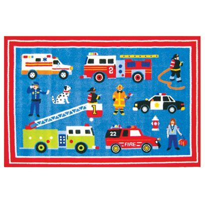 """Eli """"firetruck"""" Potts would looove this rug in his room!"""