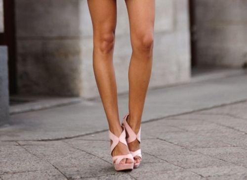 long legs & platform sandals.