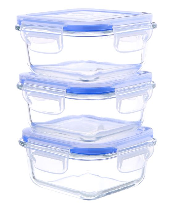 Love this 17-Oz. Glass Food Container - Set of Three by Kinetic on #zulily! #zulilyfinds
