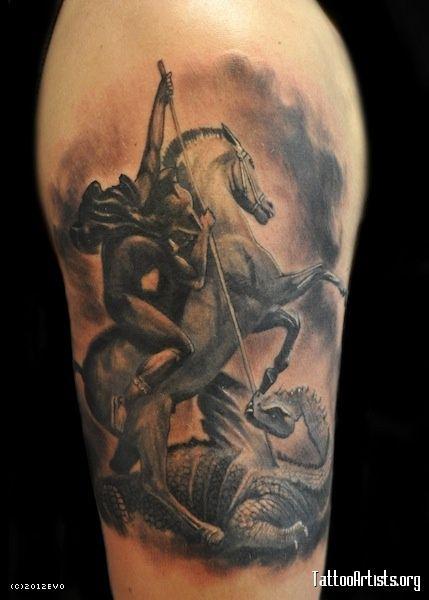 st.George | Tattoos | Pinterest | Recherche, Tatouages et ...