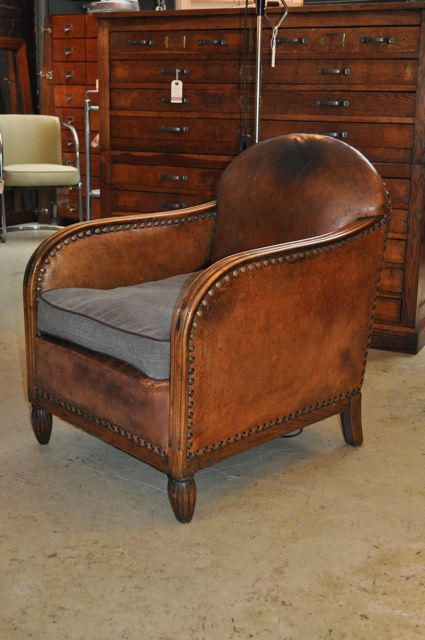 french leather chair 1930