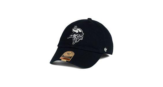'47 Brand Minnesota Vikings Black White Franchise Cap