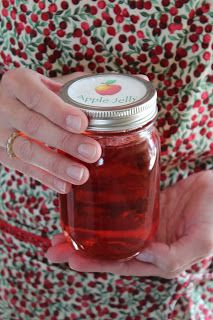 Apple Juice Jelly: apple juice, pectin, sugar & red hot candies