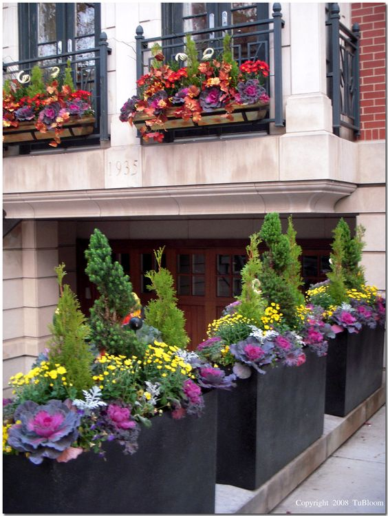 fall garden containers
