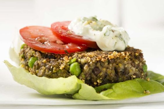 Vegan Lentil Burgers with Lemon Basil Mayonnaise recipe by Giada De ...