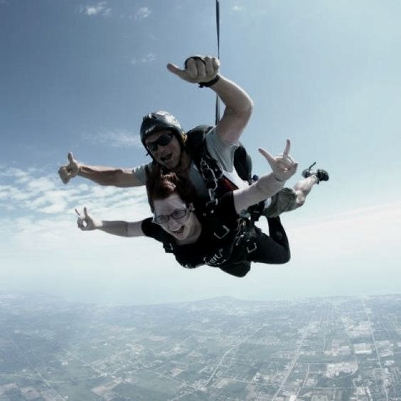 Skydiving. Best experience ever.