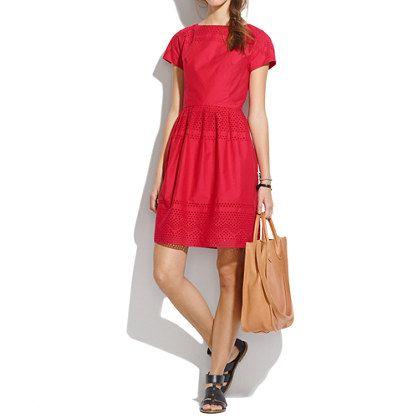 New Arrivals : Women's Dresses, Skirts, Shirts & Tops | Madewell.com latticework dress $158.00 item A2235