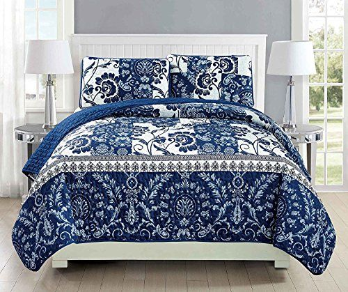 California King 3pc Quilted Bedspread