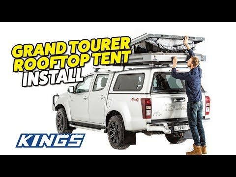 Adventure Kings Grand Tourer Rooftop Tent Install Youtube In 2020 Roof Top Tent Hilux Camper Tent