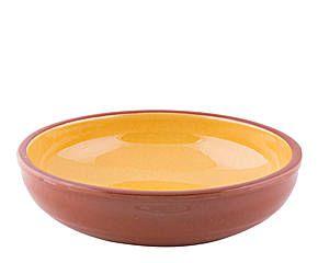 Ensaladera en cerámica Liso, amarillo - Ø20