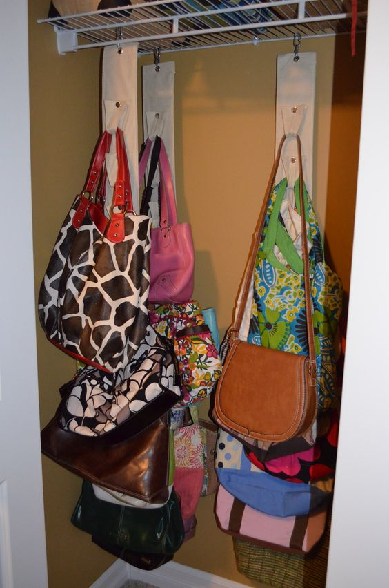 Avon sold the perfect purse organizer that i have in an - Purse organizer for closet ...