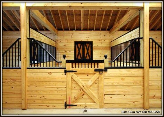 Stalls horse barn designs and barn plans on pinterest for Horse stall door plans
