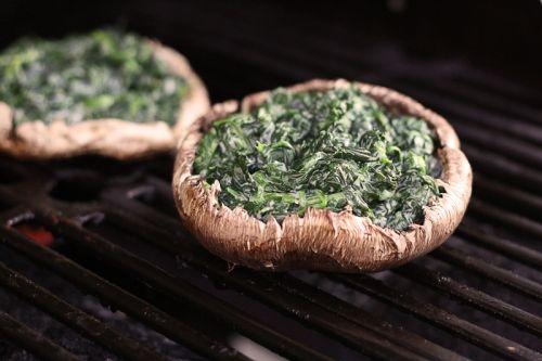 Spinach Stuffed Portobella