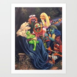 Song Of The Electric Mayhem Art Print by Hillary White