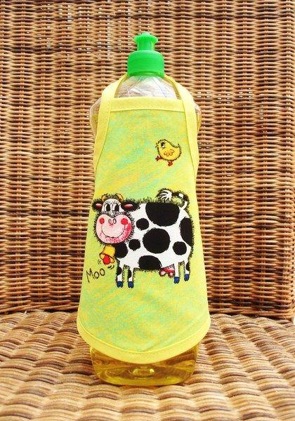 """♥♥ Spülischürze ♥♥      """"Muhhhhhhhhh""""      ♥♥♥♥♥♥♥♥    super lustige Geschenkidee oder zum selber behalten.    einfach um die Flasche binden und ein k"""
