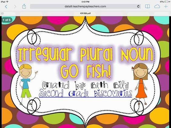 Irregular plural noun go fish irregular plurals for Plural of fish