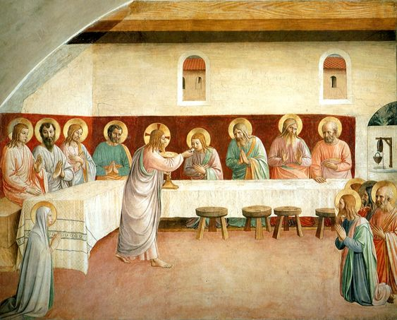 The Last Supper Communion by Fra Angelico.