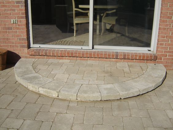 Tumbled Brick Paver Step Steps And Stairs Pinterest
