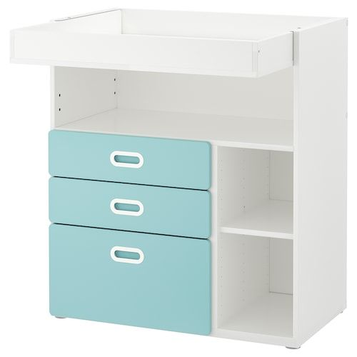 STUVA FRITIDS Loft bed with 4 drawers2 doors white