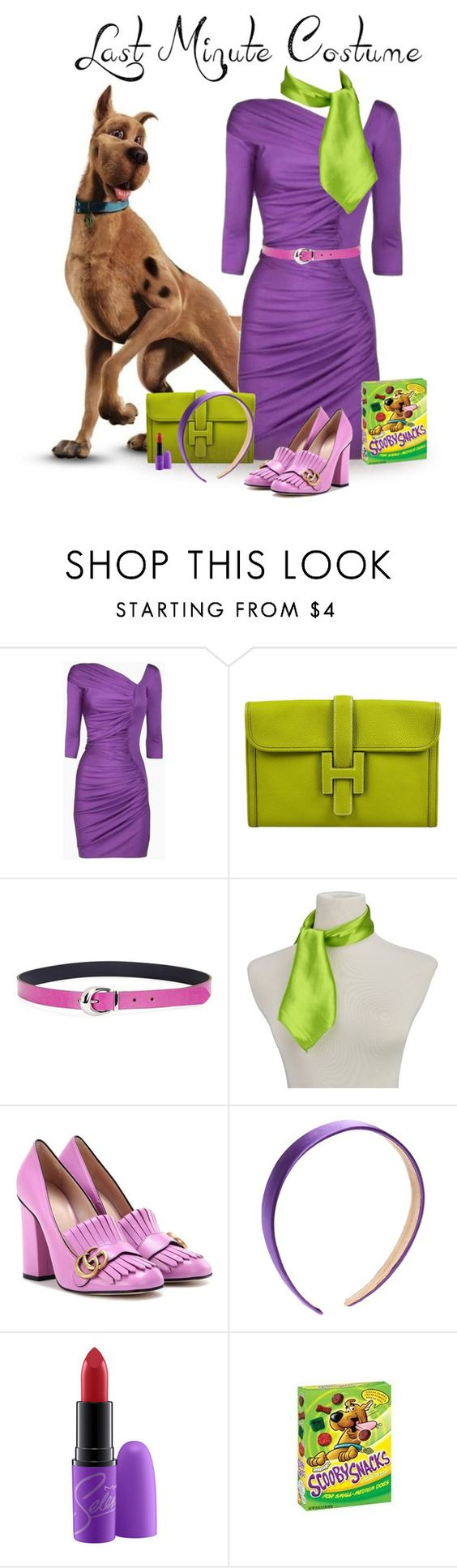 """Daphne"" by diane-hansen ❤ liked on Polyvore featuring Catherine Malandrino, Hermès, Lauren Ralph Lauren, Gucci, halloweencostume and lastminutecostume"
