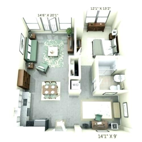 Converting A Garage Into An Apartment Floor Plans Garage Apartment Conversion Double Gara Apartment Layout Studio Apartment Floor Plans Studio Apartment Layout