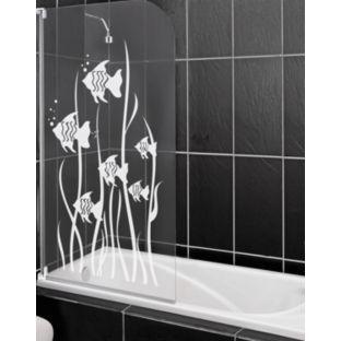 buy half framed radius white fish shower screen at argos. Black Bedroom Furniture Sets. Home Design Ideas