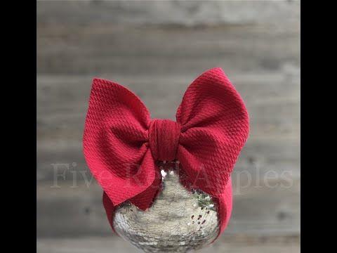 SIMONE hair bow stretch headwrap big bow head wrap newborn bow fabric head baby bow headwraps toddler headband mini knot