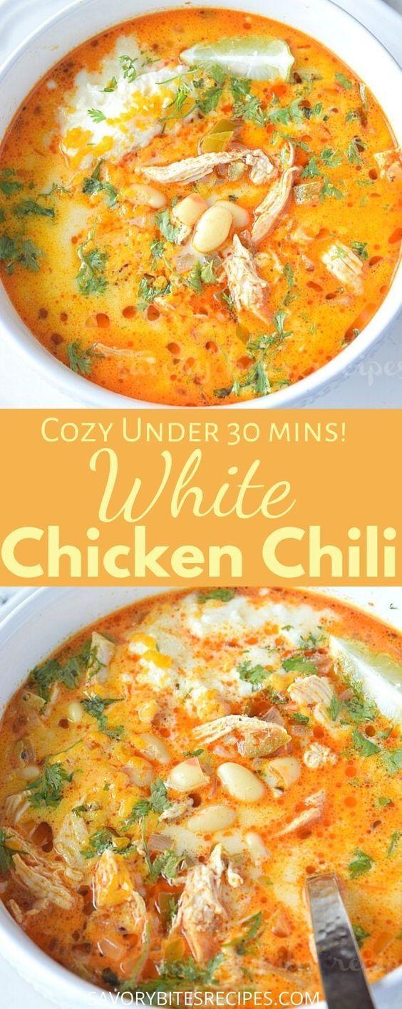 The 30 Minute Best Creamy White Bean Chicken Chili
