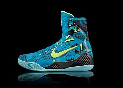 "THE SNEAKER ADDICT: Nike Kobe 9 IX Elite Hi ""Perspective"" Blue/Volt Sn..."