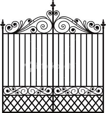 Dibujo de reja de forja herreria pinterest dibujo - Rejas de forja antiguas ...