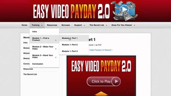 Easy Video Payday 2.0 Review And Bonus
