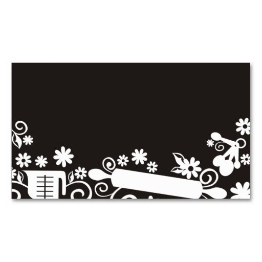 Baker baking pastry chef utensils black business c business card. I love this design! It is available for customization or ready to buy as is. All you need is to add your business info to this template then place the order. It will ship within 24 hours. Just click the image to make your own!