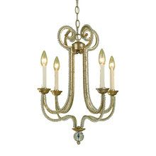 "View the AF Lighting 6773-4H Candice Olson ""Camerson"" Four-Light Chandelier with Glass Bead Accents, Finished in Soft Gold at LightingDirect.com."