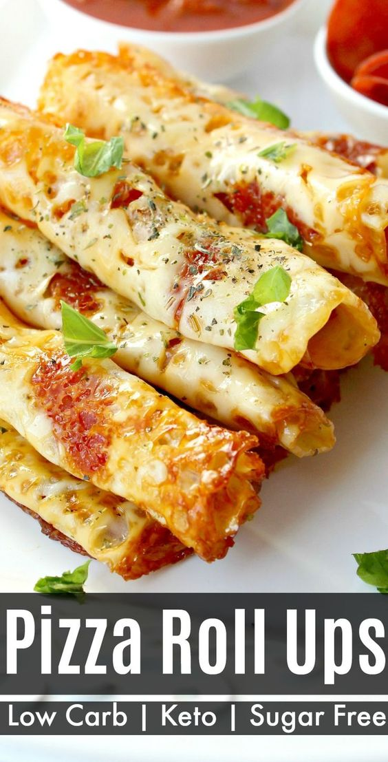 Low Carb Pizza Roll Ups