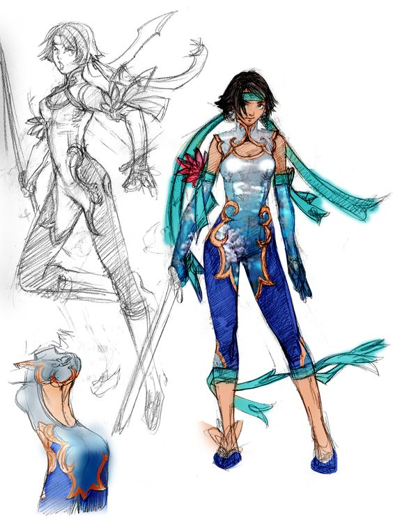 Soul Calibur V Anime Characters : Xianghua soul calibur concept art cosplay pinterest