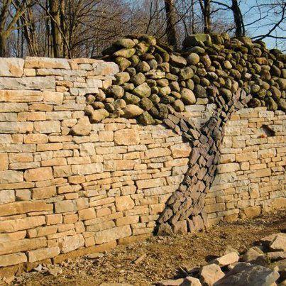 love this wall: Rock Wall, Stone Walls, Tree Wall