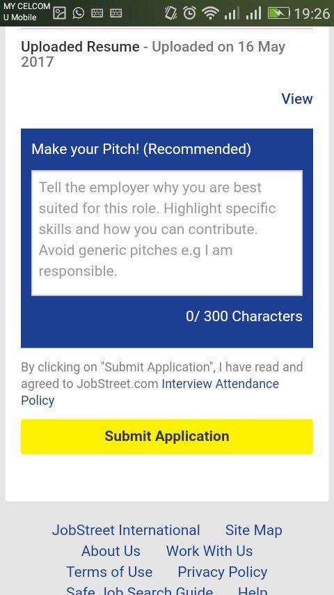 Cover Letter Template Jobstreet Resume Format Job Cover Letter Employment Cover Letter Cover Letter For Resume