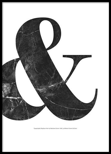 black marble poster in der gruppe poster typografie. Black Bedroom Furniture Sets. Home Design Ideas