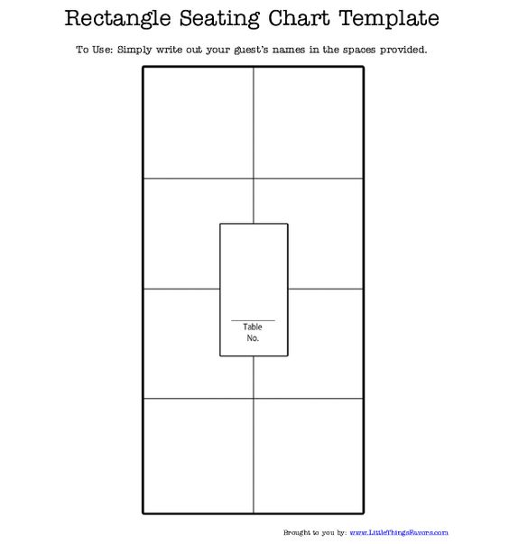 free printable #rectangle #seating #chart for #weddings and - free printable seating chart