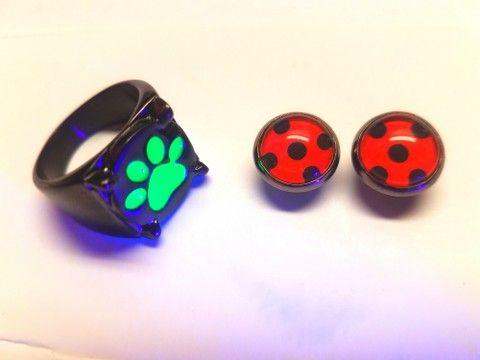 Tales Of Miraculous Ladybug Cat Noir Ring Adrien Glow In The Dark Chat Noir Ring 0 Mariquitas Memes De Ladybug Miraculous