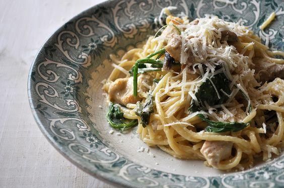 Tetrazzini Acho que era capaz de comer todos os dias esparguete :) e este é um dos meus preferidos (não consigo dizer o mais preferido de todos, mas com gambas também vai muito bem). Esta receita é...