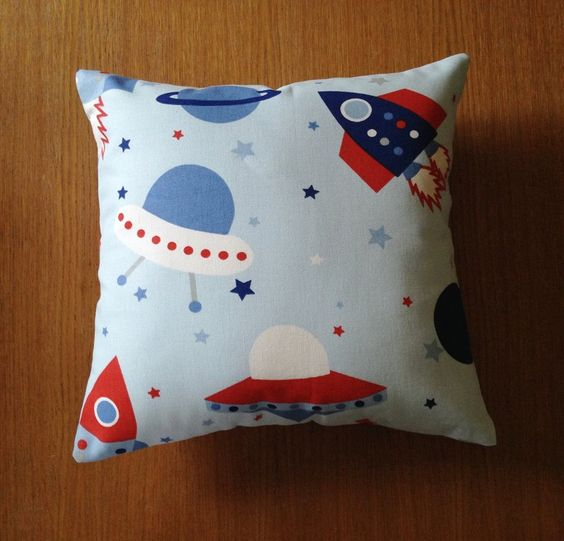 Space fabric cushion, boys cushion by AndiesAccessoriesUK on Etsy