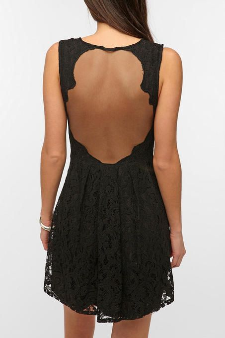 Lace Sheer-Back Dress by Pins And Needles