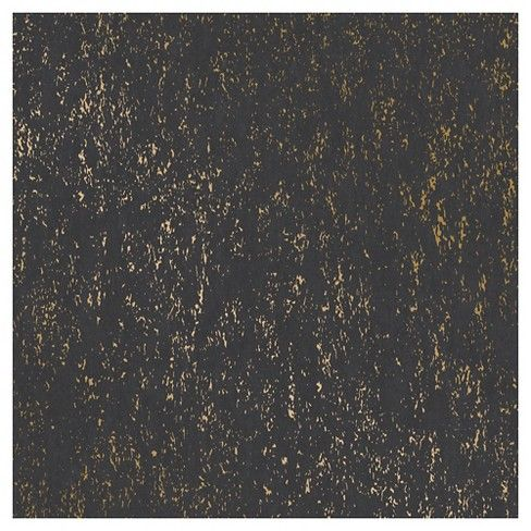Devine Color Prints And Patterns Metallic Texture Black And Karat In A Black And Metallic Gold C Peel And Stick Wallpaper Wallpaper Bedroom Removable Wallpaper