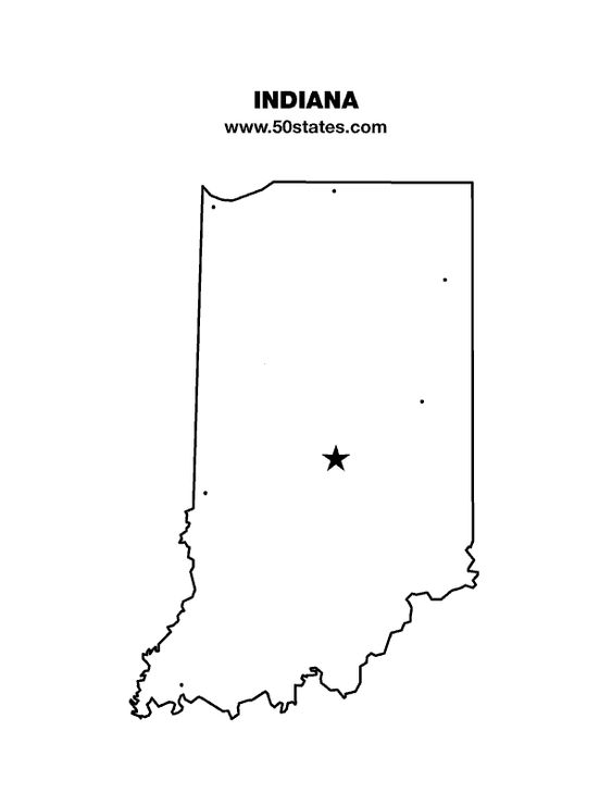 Blank Map Of Indiana Find This Map And The Other 49