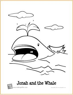 Jonah and the Whale Free Coloring Page…