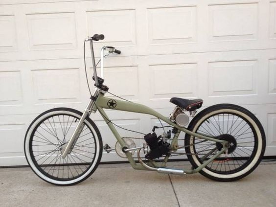 Build A Bike Like This Motorized Bicycle Powered Bicycle Bicycle