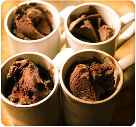 dark chocolate, fig & cardamom ice cream