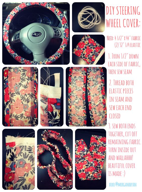 Steering Wheel Cover tutorial I made! #sewing #diy #cover: