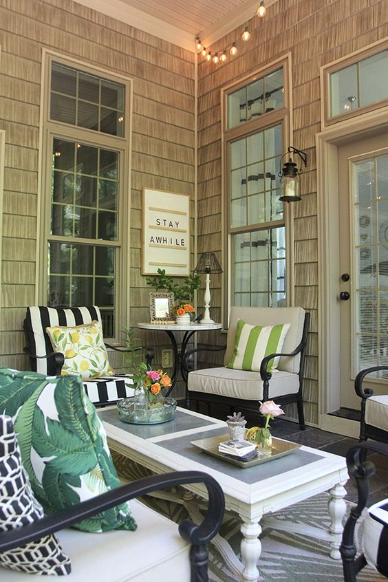 Summer Screened Porch Decor | Less Than Perfect Life of Bliss | home, diy, travel, parties, family, faith